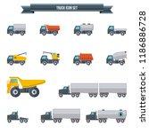 trucks icons set | Shutterstock .eps vector #1186886728