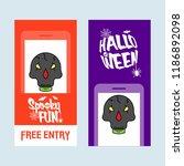 happy halloween invitation... | Shutterstock .eps vector #1186892098