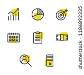 business icons set with task...