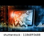 stock market graph. abstract...   Shutterstock . vector #1186893688