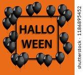 vector halloween frame with... | Shutterstock .eps vector #1186895452