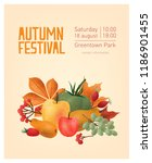 flyer or poster template for... | Shutterstock .eps vector #1186901455
