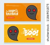 happy halloween invitation... | Shutterstock .eps vector #1186901875