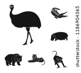 different animals black icons... | Shutterstock .eps vector #1186904365