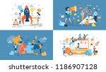 set of start up illustration... | Shutterstock .eps vector #1186907128