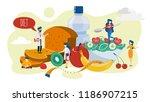healthy food concept. idea of... | Shutterstock .eps vector #1186907215