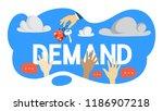 demand concept. hand of real... | Shutterstock .eps vector #1186907218