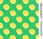 potato chips pattern on pastel... | Shutterstock . vector #1186907488