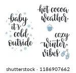 winter seasonal inspirational... | Shutterstock .eps vector #1186907662