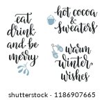 winter season and christmas... | Shutterstock .eps vector #1186907665