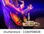 guitarist playing on electric...   Shutterstock . vector #1186908838