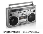 retro ghetto blaster isolated... | Shutterstock . vector #1186908862