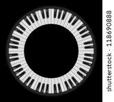 Piano Keys. Circular...