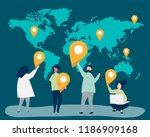 characters of people with map... | Shutterstock .eps vector #1186909168