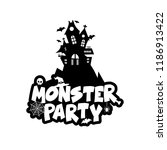 monster party design with... | Shutterstock .eps vector #1186913422