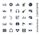 audio icon. collection of 25... | Shutterstock .eps vector #1186918498