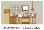 stylish interior of modern...   Shutterstock .eps vector #1186922302