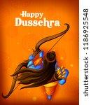 lord rama in happy dussehra... | Shutterstock .eps vector #1186925548
