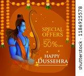 lord rama in happy dussehra... | Shutterstock .eps vector #1186925578