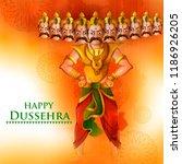 demon ravana in happy dussehra... | Shutterstock .eps vector #1186926205