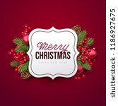 merry christmas background.... | Shutterstock .eps vector #1186927675