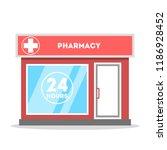 pharmacy city street building... | Shutterstock .eps vector #1186928452