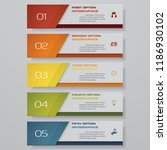 design clean number banners... | Shutterstock .eps vector #1186930102