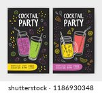 set of flyer or cocktail party... | Shutterstock .eps vector #1186930348
