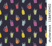 colorful seamless pattern with... | Shutterstock .eps vector #1186930402