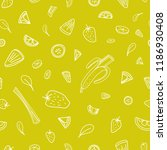 seamless pattern with slices of ... | Shutterstock .eps vector #1186930408