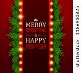 christmas background. retro...   Shutterstock .eps vector #1186930825