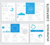 brochures for business reports  ... | Shutterstock .eps vector #1186936078