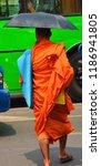 vientiane laos 04 06 13  a monk ... | Shutterstock . vector #1186941805