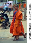 vientiane laos 04 06 13  a monk ... | Shutterstock . vector #1186941808