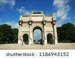 paris  france jul 23  2018  arc ... | Shutterstock . vector #1186943152