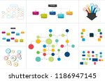 mega set of various  flowcharts ... | Shutterstock .eps vector #1186947145