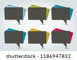 set of color speech bubbles.... | Shutterstock .eps vector #1186947832