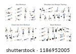 big set of people doing... | Shutterstock .eps vector #1186952005