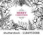christmas frame card.vector... | Shutterstock .eps vector #1186953088