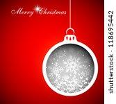 christmas balls | Shutterstock .eps vector #118695442