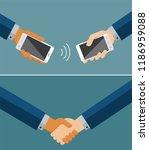concept of modern communication.... | Shutterstock .eps vector #1186959088