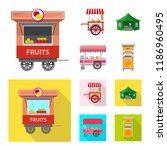 vector design of market and... | Shutterstock .eps vector #1186960495