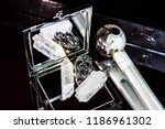 quartz and meth crystal  side... | Shutterstock . vector #1186961302