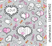 romantic background on gray ... | Shutterstock .eps vector #1186972402