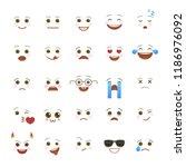 comic emoji symbols for... | Shutterstock .eps vector #1186976092