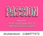 vector passion font trendy... | Shutterstock .eps vector #1186977472