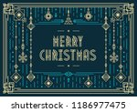 christmas card modern... | Shutterstock .eps vector #1186977475