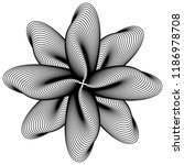 abstract black and white... | Shutterstock .eps vector #1186978708