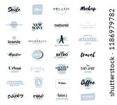 collection of logos and... | Shutterstock .eps vector #1186979782