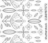 cute simple vector flower... | Shutterstock .eps vector #1186987072